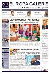 Oster-Shopping am Palmsonntag - EUROPA-Galerie, Saarbrücken