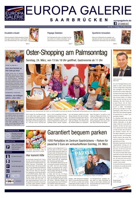 Oster Shopping am Palmsonntag EUROPA Galerie, Saarbrücken