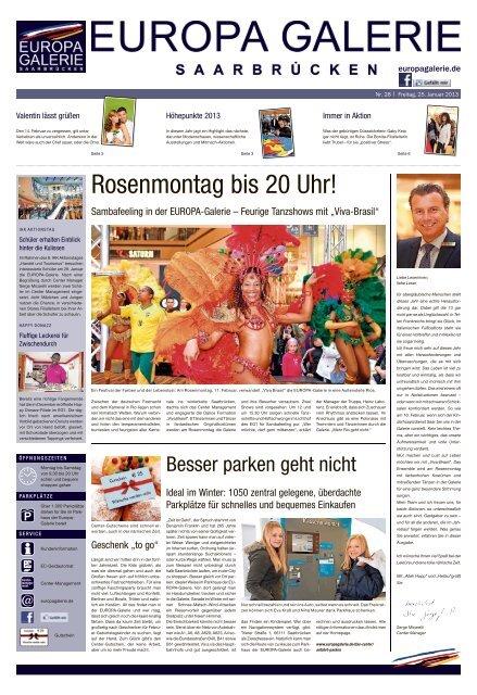 Rosenmontag Bis 20 Uhr Europa Galerie Saarbrucken