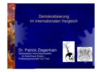 Demokratisierung im internationalen Vergleich Dr ... - Asienhaus