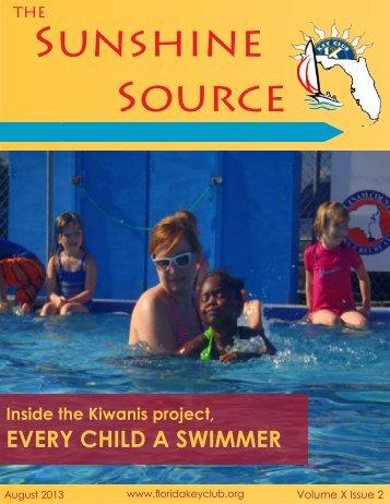Florida Key Club's Sunshine Source Vol IX No 2 August 2013
