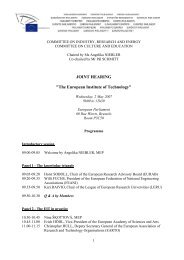 Programme of the event - European Parliament - Europa