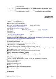 Contract notice - European Parliament - Europa