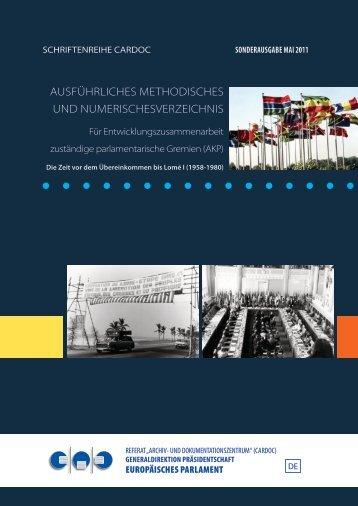 ausführliches methodisches und numerischesverzeichnis - Europa