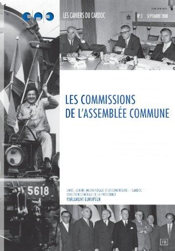 Les Commissions de l'Assemblée commune - Europa