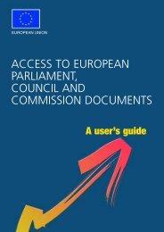 A user's guide - European Parliament - Europa