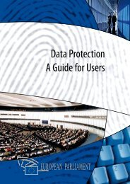 Data Protection - a guide for users - European Parliament - Europa