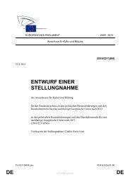 DE DE ENTWURF EINER STELLUNGNAHME - Europa