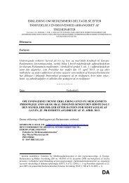 erklæring om medlemmers deltagelse efter indbydelse i en ... - Europa