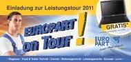 Einladung zur Leistungstour 2011 GRATIS - EUROPART - europart.de