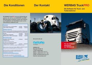 WERBAS TruckPRO Die Konditionen Der Kontakt