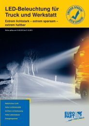 LED-Beleuchtung für Truck und Werkstatt - EUROPART - europart.de