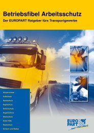 Betriebsfibel Arbeitsschutz - EUROPART - europart.de