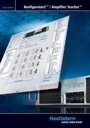 DSP Controller Inside (PDF) - HOELLSTERN Audio Amplifier