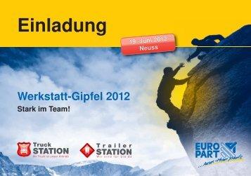 Werkstatt-Gipfel 2012 Stark im Team! Einladung - EUROPART ...