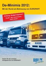 De-Minimis 2012: - EUROPART - europart.de