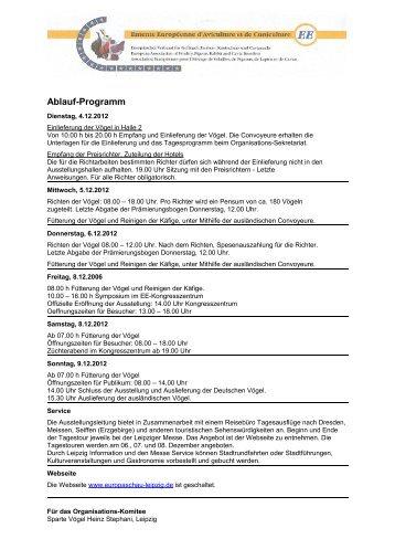 Ablauf-Programm - EE Europaschau Leipzig