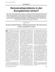 Demokratieprobleme in der Europäischen Union?
