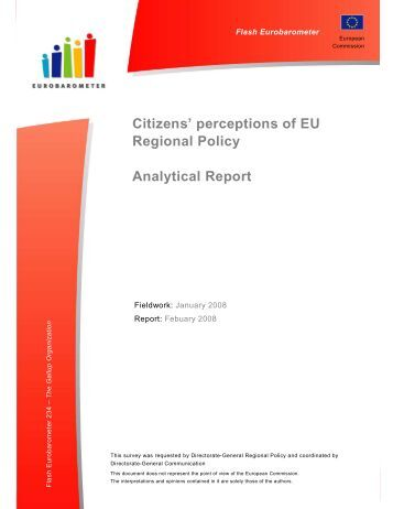 Citizens' perceptions of EU Regional Policy - European Commission ...
