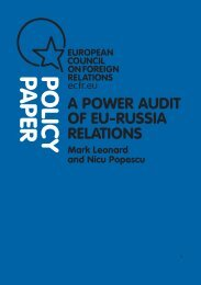 A power audit of EU-Russia relations