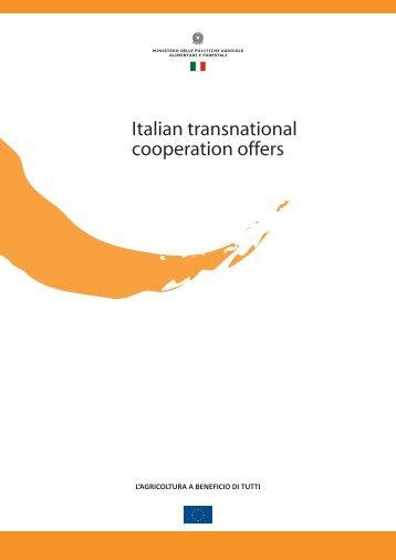 italian transnational cooperation offers leader - Maaseutu.fi