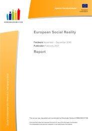 Special Eurobarometer 'European social reality'