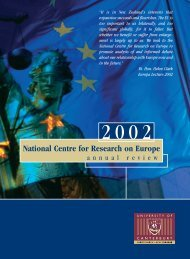 Annual Review 2002 - National Centre for Research on Europe ...