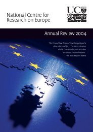 Annual Review 2004 - National Centre for Research on Europe ...