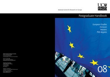 Postgraduate Handbook - National Centre for Research on Europe ...