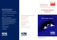 NCRE European Union Studies Courses 2013 - National Centre for ...