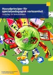 Huvudprinciper för specialpedagogisk verksamhet - European ...