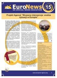 PL Projekt Agencji ?Wczesna interwencja: analiza sytuacji w Europie?