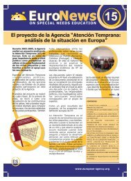El proyecto de la Agencia - European Agency for Development in ...