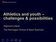 Prof. Sigmund Loland - European Athletics