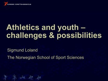 Prof. Sigmund Loland - European Athletics