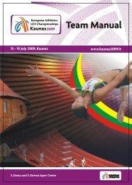 European Athletics U23 Championships- Team Manual