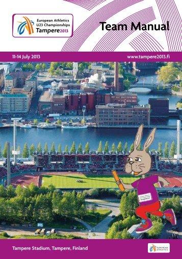 EU23CH Tampere 2013 - Team Manual.pdf - European Athletics