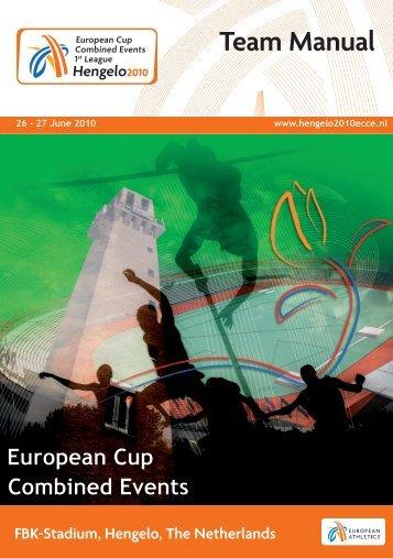 26 - 27 June 2010 www.hengelo2010ecce.nl - European Athletics