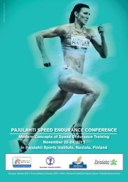 pajulahti speed endurance conference - European Athletic Association