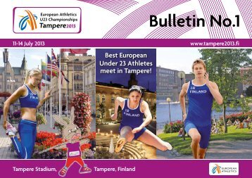 EU23CH Tampere 2013 - Information Bulletin - European Athletics