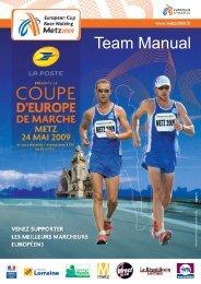 European Cup Race Walking Team Manual - European Athletics