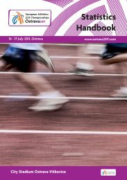 ECHU23 - Ostrava 2011 - Statistics Handbook - European Athletics