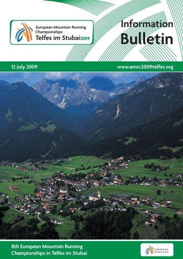 Info Bulletin - European Athletics