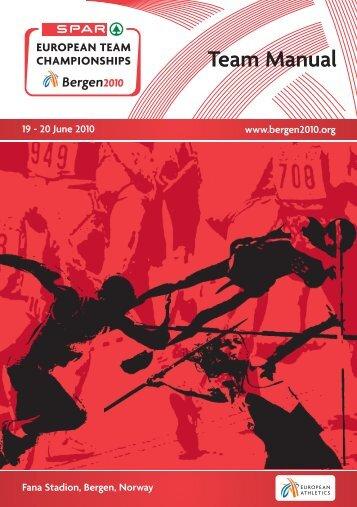 Team Manual - European Athletic Association