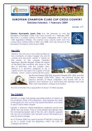 ECCC Cross 2009 Bulletin 1 - European Athletics