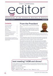 The Canberra editor July-August 2013