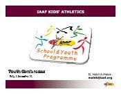 IAAF KIDS' ATHLETICS - European Athletics