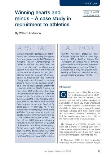ABSTRACT AUTHOR - European Athletics