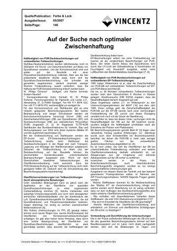 Auf der Suche nach optimaler Zwischenhaftung - European-coatings ...