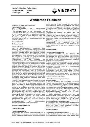 Wandernde Feldlinien - European-coatings.com